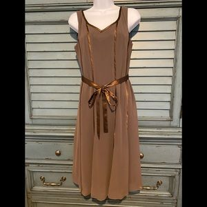 Scarlett Lined Brown party dress